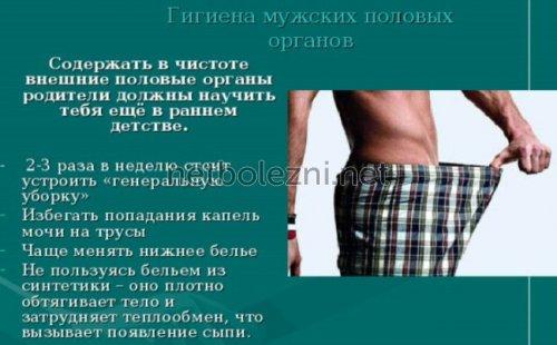 Гигиена мужских половых органов