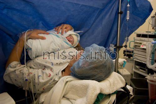 Рождение ребенка путем кесарева