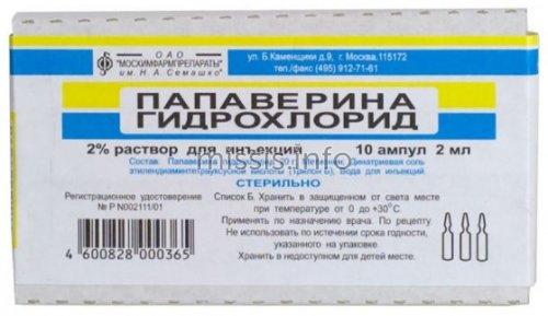 Папаверин в инъекциях