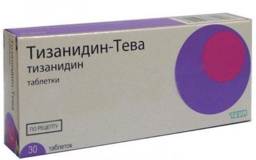 Тизанидин в таблетках